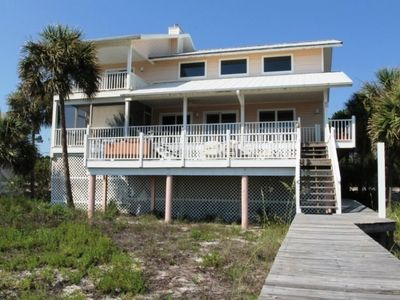 Photo for BEACH FRONT HOME WITH HOT TUB!