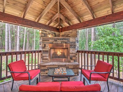 Photo for NEW! 1.2-Acre Broken Bow Cabin w/Hot Tub, Fire Pit