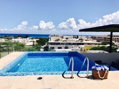Photo for Penthouse near playa Mamitas with private pool