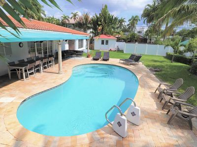 Photo for Private pool house 1 mile from Beach
