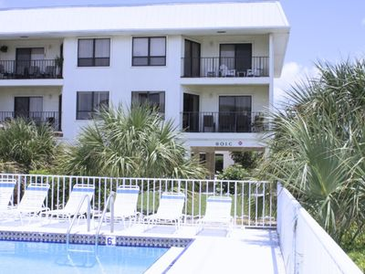 Photo for 2BR 2BA Top Floor Condo, With Gulf to West and Waterway to East, PRIVATE Beach