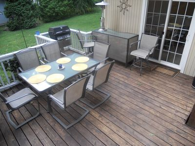 Large Deck with Gas Grill