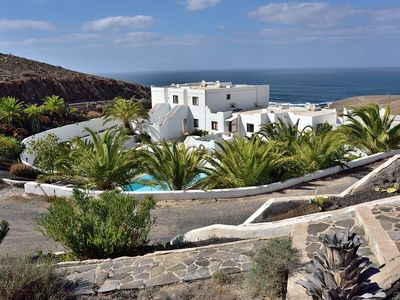 Photo for West coast apartment, Fuerteventura with seaview and communal pool.