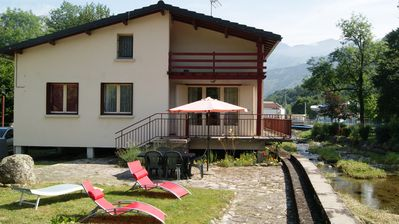 Photo for Beautiful house bordering a river with large garden 15 minutes from Ax les Thermes