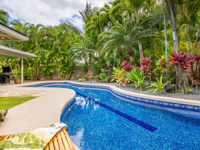 Photo for Beach access, Private home, Pool, Comfortably appointed, Secluded, Hale Kimo