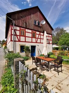 Photo for Holidays in a 200-year-old half-timbered house