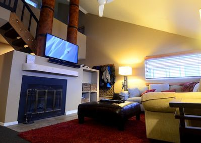 Family Room with 50inch HD TV/HD Cable/Web enabled Blue-Ray/ surround sound