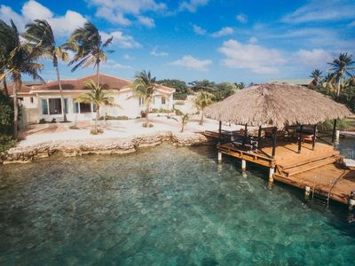 Photo for OCEAN FRONT luxury villa with private beach and pier