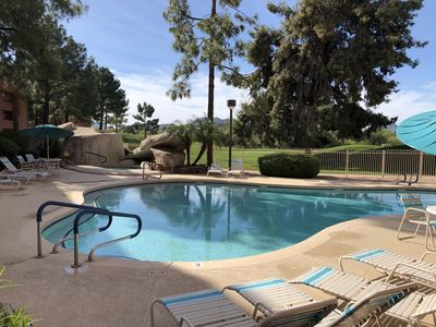 Photo for Comfortable One Bedroom Condo With Beautiful Pool, Golf Course and Mountain View