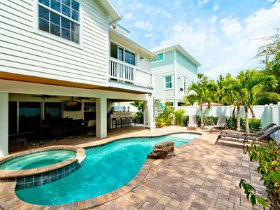 Photo for Villa Marianne: Huge Family Friendly Home With A Private Pool Just Steps to the  Beach!