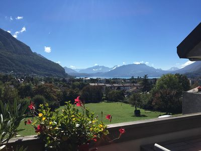 Photo for Beautiful Duplex Apartment with Mountain Views and Lake Annecy