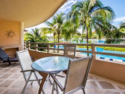 Photo for Marina View Waterfront Condo with resort style pool.