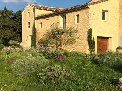 Photo for LA GRANGE, charm and beautiful views of the vineyards and villages of the Luberon