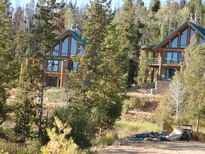 Photo for Luxury Log Cabins At White Pine Ski Area, Pinedale. In The Wind River Mountains