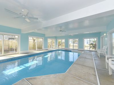 Photo for Luxury Beach Home on the bay, with INDOOR POOL and pool table!