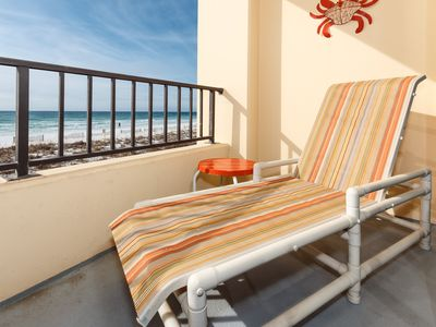 Photo for Surf Dweller 207: HUGE Gulf front with 32 ft balcony, WIFI, BlueRay & MORE!