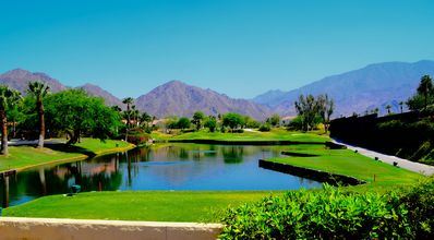 Photo for La Quinta, Beautiful 4 Bedroom W/2 Bed Casita ,3.5 b Pool,on golf course. Views!