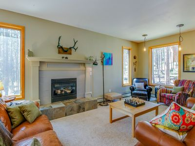 Photo for Spacious mountain lodge w/ epic views, private hot tub - close to slopes!