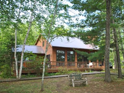 Photo for Beautiful Round Lake Northern Cedar Contemporary Vacation Home