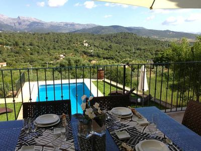 Photo for Spacious town house for 12 people in Buger with pool and panoramic views