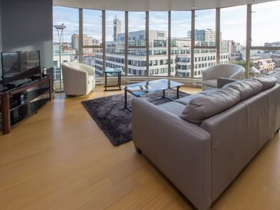 Photo for Light and Bright 9th Floor Condo, Olympic Views from Floor to Ceiling Windows