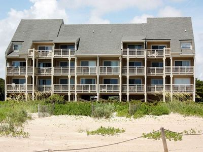 Photo for House at the Beach: 2 Bed/1 Bath Oceanfront Condo with Covered Porch and Community Pool