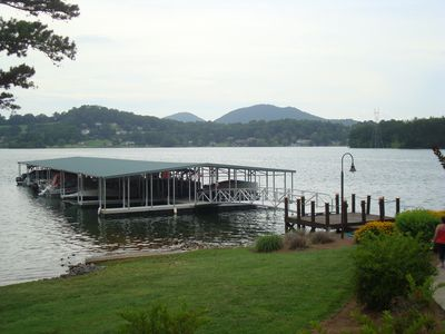 Photo for Luxury 3 BR Townhome on Chatuge! Covered Dock, Kayaks, Canoe, P Boards included!