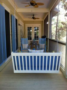 Screened Porch on main with Swing