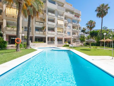 Photo for Apartment Carihuela with Wi-Fi, Air Conditioning, Balcony & Pool