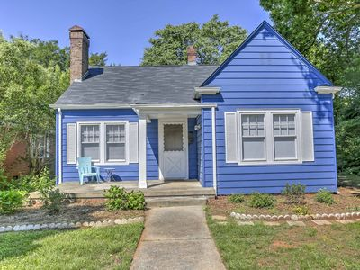Photo for New! 'The Blue House' 2BR Greensboro House w/Deck!