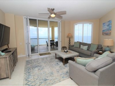 Photo for Beach Colony East 8C- Beach Front unit with large terrace & amazing views!