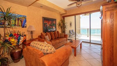 Photo for Beach Front, 2 Bed 2 Bath, Sleeps 6, ocean front & golf course view