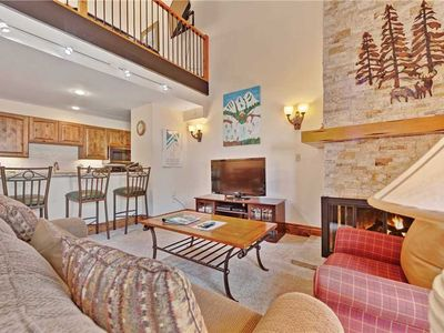 Photo for Mountain view condo with ski-in/ski-out access, pool & hot tub on-site