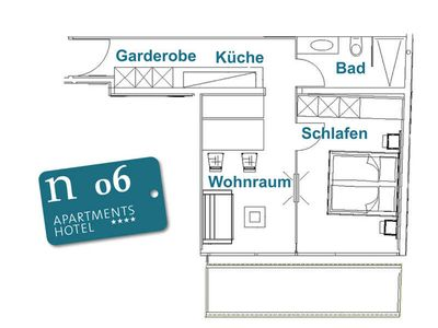Photo for n 06 2 persons - 1. OG - approx. 41 m2 - n Apartments Hotel ****