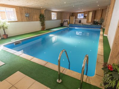 Photo for Country Cottage with Indoor heated swimming pool and panoramic views.