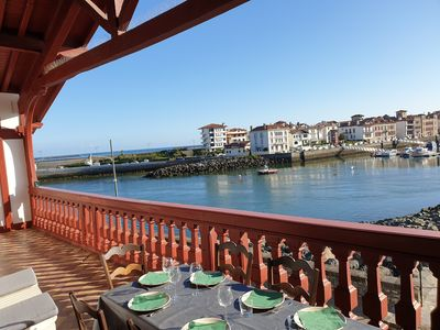 Photo for Spacious apartment on the port of St Jean de Luz ... all access on foot ...