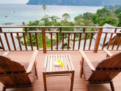 Photo for Hill Side Panoramic view bungalow PhiPhi