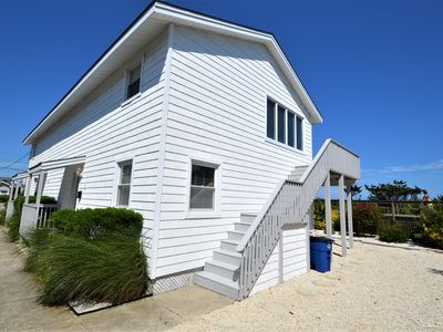 Photo for BEACHFRONT! Tucked just behind Avalon s boardwalk on off-street side of a two-unit building