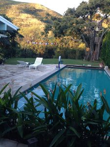 Photo for Secluded home w Ocean view, heated pool &hot tub, close to Beach, restaur