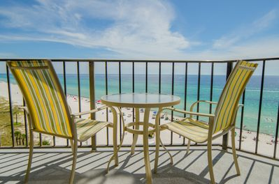 "Your ""Captain's Cove"" balcony! East and West views of the beach!"