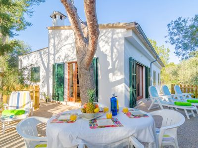 Photo for ES JAÇ - Chalet with terrace in Cala s'Almonia.