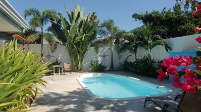 Photo for 3bdrm, 3-1/2 bath home with A/C and pool, in quiet area, completely fenced.