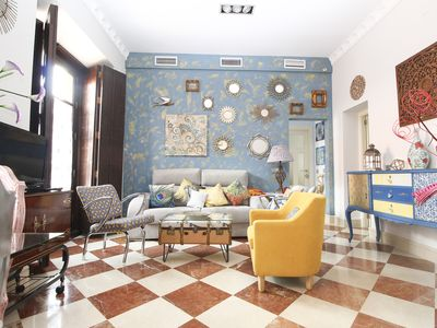 Photo for Elegant Apartment in Rehabilitated Palace, Center of Seville, Wifi