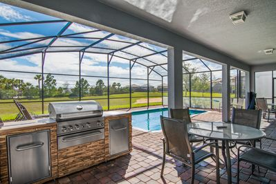 Private, Screened Patio Area with Summer Kitchen