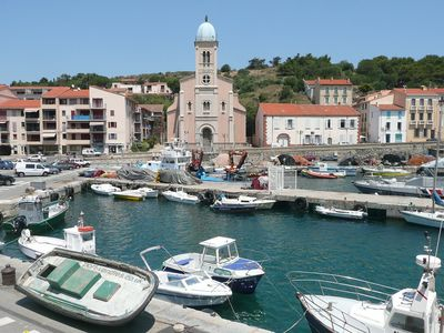 Pretty harbour in front of you!