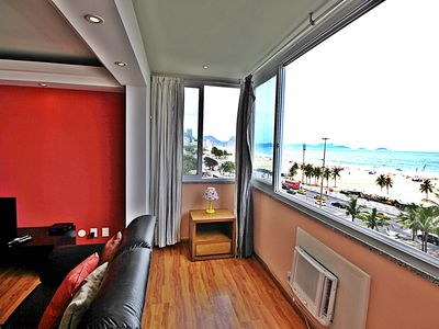 Photo for Amazing apartment for up to 11 people panoramic front view Copacabana