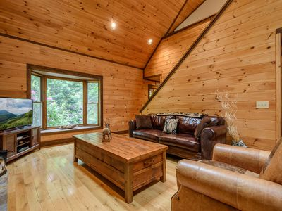 Photo for 3BR Cabin w/ Hot Tub, Shuffleboard, Firepit, Minutes to App Ski Mtn and Blowing Rock, Boone