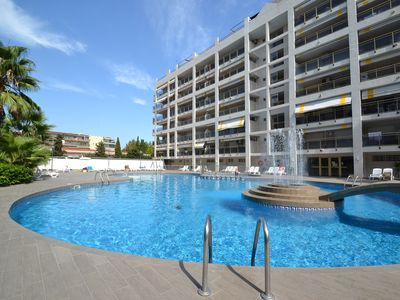 Photo for MICHELANGELO 1:250m from the beach and center of Salou-Pool-FREE Air conditioned,Wifi,Linen