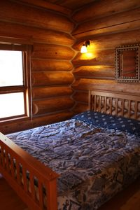 Photo for Log Chalet with Mountain views and private lake