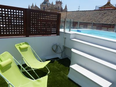 Photo for Apartment in historic center with pool and fireplace for winter